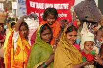 23-01-2004 - Indian women from the Forest Workers Trade Union. World Social Forum, Mumbai, India. © Jess Hurd