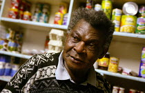 08-11-2004 - Addi a corner shop keeper and resident in lower Broughton. Formerly from Nigeria Addi came to Salford in the 1970's where he brought up his children. © Jess Hurd