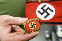 19-06-2008 - Nazi memorabilia, badge an original from the Hitler Youth. The USA has seen a dramatic increase in white supremacist organisations and racist attacks against immigrants in the last few years, especial... © Jess Hurd