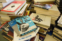 19-06-2008 - Fascist books donated to the Intelligence Project a white supremacist monitoring organisation in the States. The USA has seen a dramatic increase in white supremacist organisations and racist attacks... © Jess Hurd