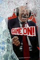 07-08-2011 - Smashed shopwindow of a betting shop. Riots in Tottenham. Riot police clashed with hundreds of rioters after the fatal shooting of Mark Duggan, 29, who was killed by police on Thursday. North London. © Jess Hurd