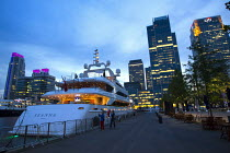 11-08-2012 - The Seanna, is one of the Super-yachts moored at Canary Wharf for the London 2012 Olympics. Tower Hamlets, East London. The Seanna is a 213-foot boat being chartered out to super wealthy visitors for... © Jess Hurd