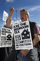 09-14-2013 - Axe the bedroom tax protest outside Liberal Democrats Conference, Glasgow. © Jess Hurd
