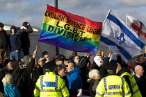01-02-2014 - EDL LGBT Division. Anti fascists demonstrate in Slough against the English Defence League. © Jess Hurd
