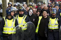 01-02-2014 - Anti fascists demonstrate in Slough against the English Defence League. © Jess Hurd