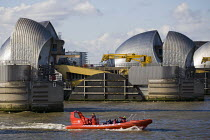 23-03-2014 - The Thames Barrier flood defence run by the The Environment Agency. East London. © Jess Hurd