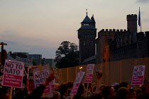 04-09-2014 - No Dinner of Death - Anti war protest outside a NATO banquet at Cardiff Castle, Cardiff. © Jess Hurd