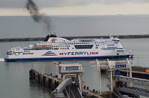27-09-2014 - MyFerryLink ro ro ferry arriving at the Eastern Docks. Port of Dover, Kent. © Jess Hurd