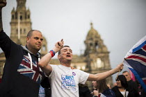 19-09-2014 - No Campaign, far right nationalists taunt Yes Campaign in George Square the day after polling day in the Scottish Independence Referendum. Glasgow, Scotland. © Jess Hurd