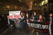 26-11-2014 - Solidarity with Ferguson - Justice for Michael Brown. Protest began at the US Embassy and ended at Scotland Yard. London. © Jess Hurd