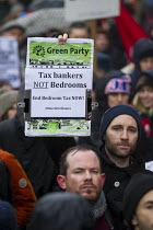 01-31-2015 - March for Homes organised by housing campaign groups converges on City Hall. London. © Jess Hurd
