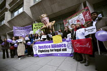05-05-2015 - Pre election farewell Party for Puppet Chris Grayling at the Ministry of Justice. Against the reorganisation of criminal defence, cuts to legal aid and the banning of books for prisoners. Organised by... © Jess Hurd