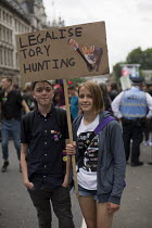 20-06-2015 - Legalise Tory Hunting placard. Peoples Assembly Against Austerity protest against cuts in anti-austerity march. London. © Jess Hurd