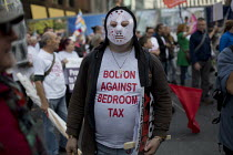 10-04-2015 - Bolton Against Bedroom Tax. TUC march against austerity cuts and unfair Trade Union Bill, Conservative Party Conference, Manchester. © Jess Hurd