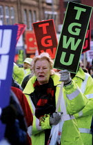 15-12-1999 - Haringey trades union demonstration against council plans to tear up contracts and reduce conditions. They include a longer working week, cut in sickness pay, cut in maternity pay and overtime rates.... © Jess Hurd