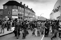 23-04-1979 - The Southall riot, before the National Front meeting youths attemped to block the centre of southall and police intervened and there were many arrests. © John Sturrock