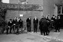04-06-1990 - Boys waiting for roll call, Fourth of June Ceremony, Eton College 1990 © John Sturrock