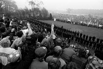01-05-1984 - NUM divided. Striking miners oppose Working Miners Rally, Nottinghamshire, 1984. 1000 striking miners opposite 7,000 scabs, Nottinghamshire NUM Working Miners Rally Berry Hill Park, Mansfield, Notting... © John Sturrock