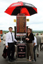 29-07-2010 - Bookmaker taking bets. Goodwood racecourse. © Justin Tallis