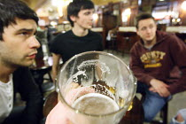 31-08-2010 - Young men having a early evening pint in the pub after work. London. © Justin Tallis