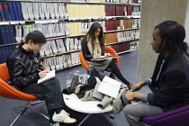 06-12-2010 - A lesson taking place in the Library. Ravensbourne specialist higher education college, Greenwich, London. © Justin Tallis