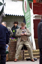 16-03-2011 - An older racegoer checking the form at Cheltenham Racecourse. © Justin Tallis