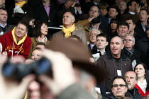 16-03-2011 - Cheering on horses at Cheltenham Racecourse. © Justin Tallis