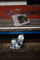 20-12-2005 - Homeless drug addicts leave behind a heroin wrap on a public staircase. Cardiff City Centre © Justin Tallis