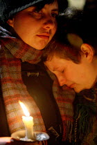 30-10-2009 - Vigil for victims of hate crime in Trafalgar Square called after a homophobic assault which resulted in Ian Baynham?death. London. © Justin Tallis