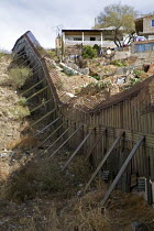 25-01-2008 - Nogales, Arizona, the border fence that separates the USA on the left, from Mexico © Jim West