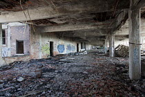 13-07-2011 - Detroit, Michigan - The abandoned Packard plant. Opened in 1903, the 3.5 million square foot plant employed 40,000 workers before closing in 1958. It has been left to decay. © Jim West