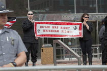 18-04-2015 - Toledo, Ohio, Neo-Nazi National Socialist Movement hold a rally on the steps of the government office building. Several hundred people turned out to protest against the Nazis. © Jim West