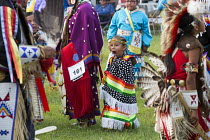 03-07-2015 - Rosebud Sioux Tribe Annual Wacipi Fair on their Reservation, South Dakota. Grass Dancers during the Grand Entry © Jim West