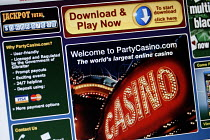 03-11-2006 - The online gambling site of PartyCasino.com part of PartyGaming.com the internet gambling company that lost many millions of dollars in value when the US Government banned online gaming from foreign c... © Mark Pinder