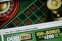 03-11-2006 - The website of online gambling company 888.com © Mark Pinder