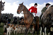 19-02-2005 - Huntsmen from the Percy Hunt Alnwick, Northumberland. The day after the hunting ban. © Mark Pinder