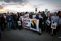 24-09-2015 - Save Our Steelworks campaign, Keep the Lights Burning rally, Redcar Teesside © Mark Pinder