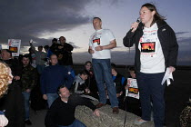 24-09-2015 - Save Our Steelworks campaign, Keep the Lights Burning rally, Redcar Teesside Anna Turley MP speaking © Mark Pinder