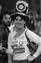 11-08-1984 - Miners wife from Maltby, South Yorkshire 1984 at a demonstration of women in support of the NUM © NLA