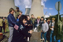 03-04-1984 - Pop group Flying pickets join striking miners, 1984 Drax power station, North Yorkshire, Dave Gittins © Peter Arkell