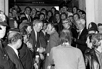 27-07-1972 - Docks strike 1972. Lobby of the Docks Delegates meeting at Transport House to demand a national dock strike. The meeting was held the day after the Pentonville 5 were released from prison. Vic Turner,... © Peter Arkell