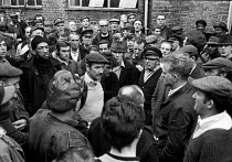 03-11-1970 - Council workers strike 1970. Chelsea and Kensington dustmen at a meeting to consider the latest offer. © Peter Arkell