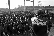 03-04-1973 - Ford Dagenham mass meeting of all the 50,000 workers at the plant. © Peter Arkell
