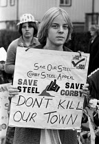18-08-1979 - Protest against rundown and closure of the steelworks, Corby 1979 © Peter Arkell