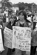 08-08-1979 - Corby Festival, protest against rundown and closure of the steelworks, Corby 1979 © Peter Arkell