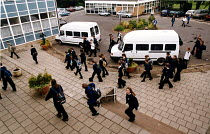 15-06-2002 - Pupils arriving at school. Nailsea Community School Bristol. © Paul Box