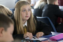 10-09-2013 - A pupil studying at Clevedon school, Clevedon. © Paul Box