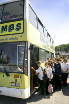 08-07-2006 - School bus at Clevedon Community School. © Paul Box
