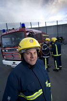 29-03-2007 - Firefighters training young offenders at HM Prison and Young Offenders Institute (HMYOI Ashfield), Bristol. © Paul Box