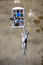 16-10-2014 - Banksy Well Hung Lover, city centre, Bristol. © Paul Box